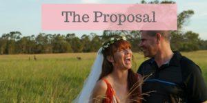 Tegan Marshall Wandering Wedding Dress Proposal
