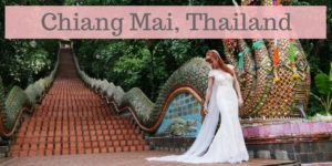 Tegan Marshall Wandering Wedding Dress Chiang Mai Thailand Main Image At Temple