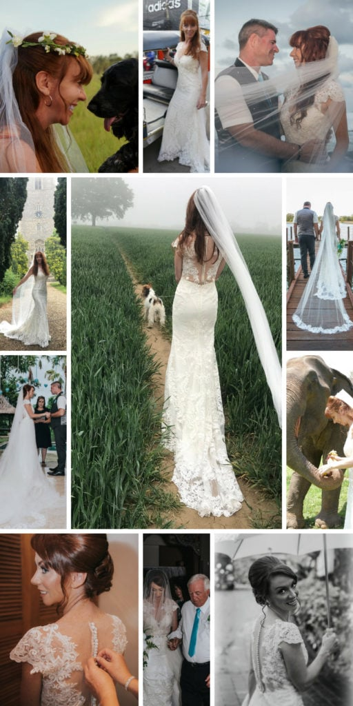 Wandering Wedding Dress Collages 1