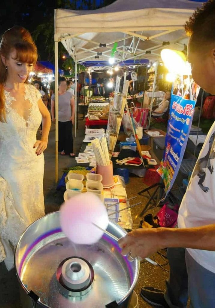 Fairy Floss Or Sugar Candy For The Wandering Wedding Dress In Chiang Mai