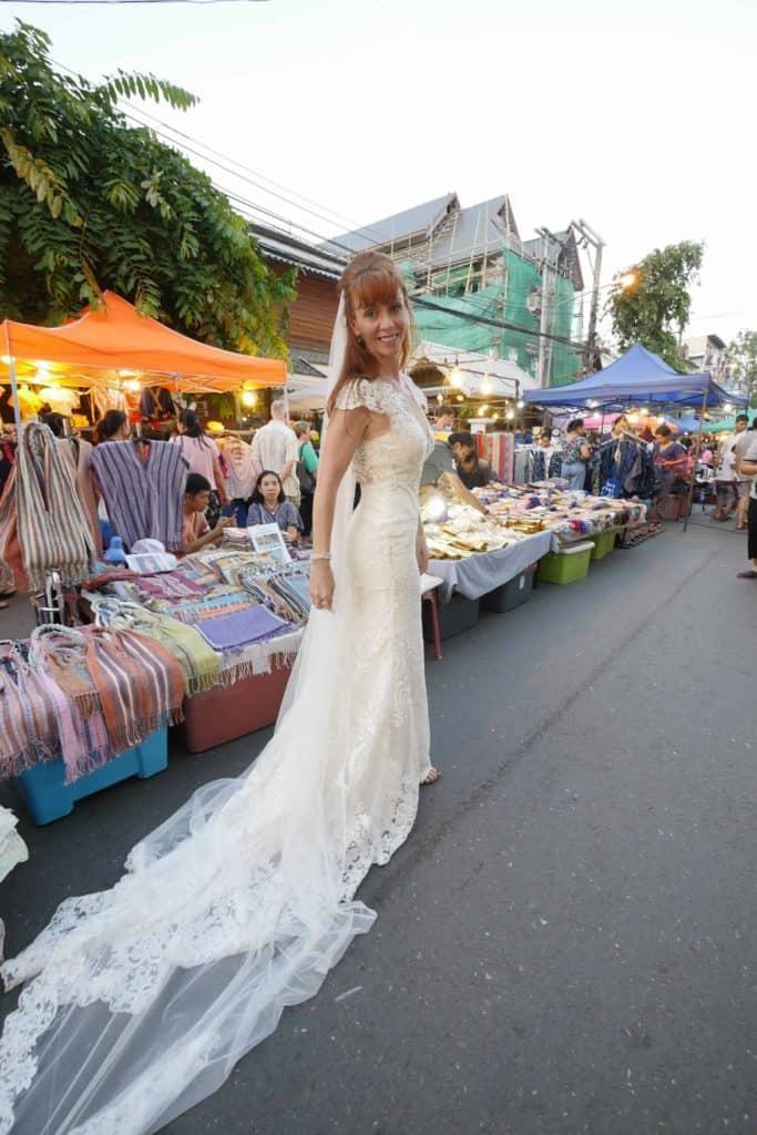 Wandering Wedding Dress At The Chiang Mai Night Markets