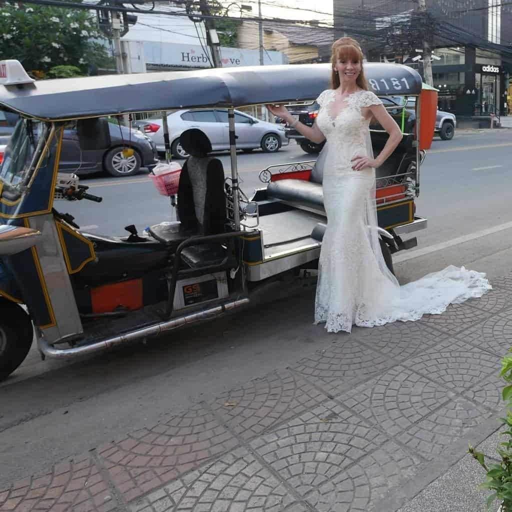 Wandering Wedding Dress In Chiang Mai In A Tuk Tuk