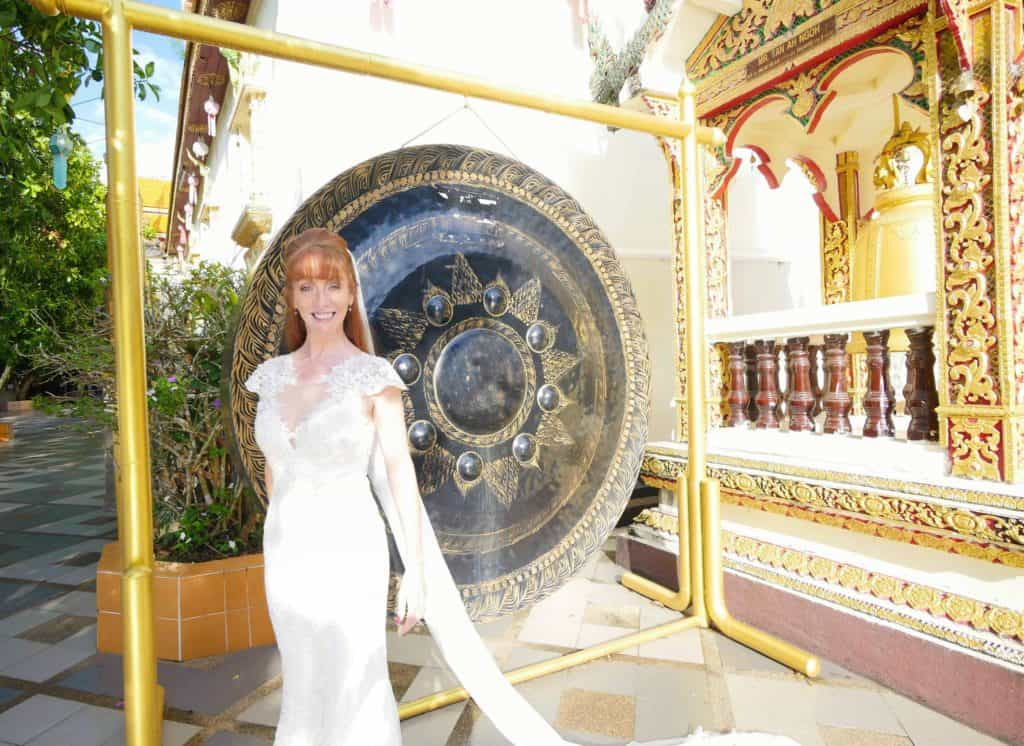 Wandering Wedding Dress In Chiang Mai Temple