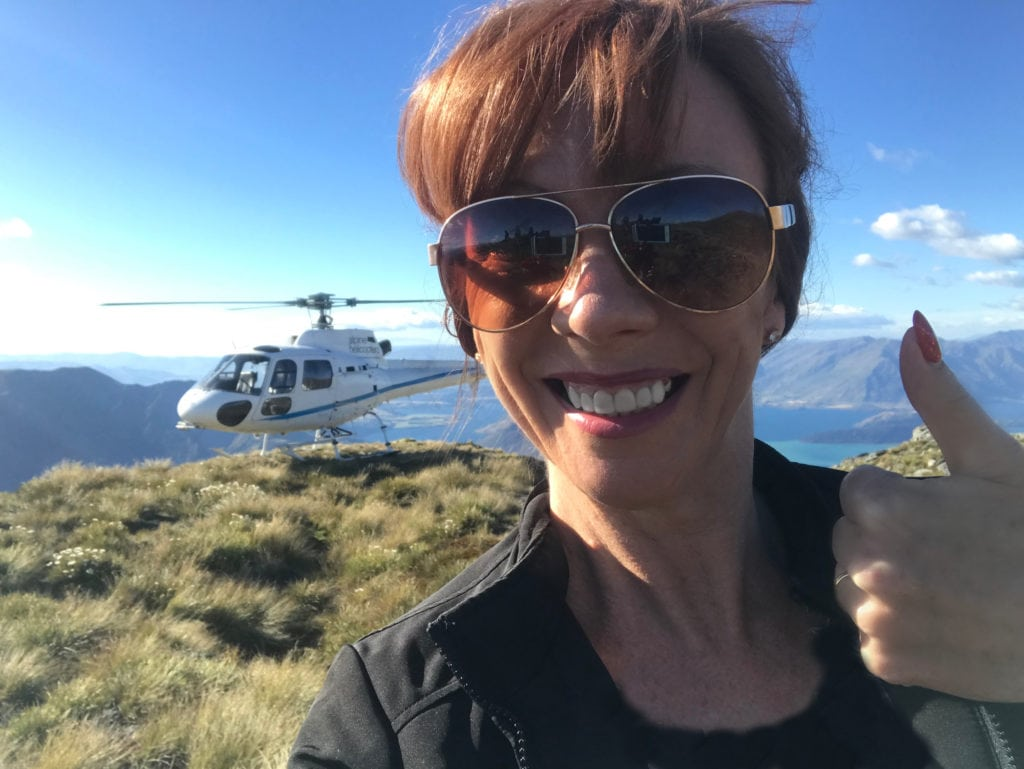 Tegan Marshall Helicopter New Zealand For Courage To Travel