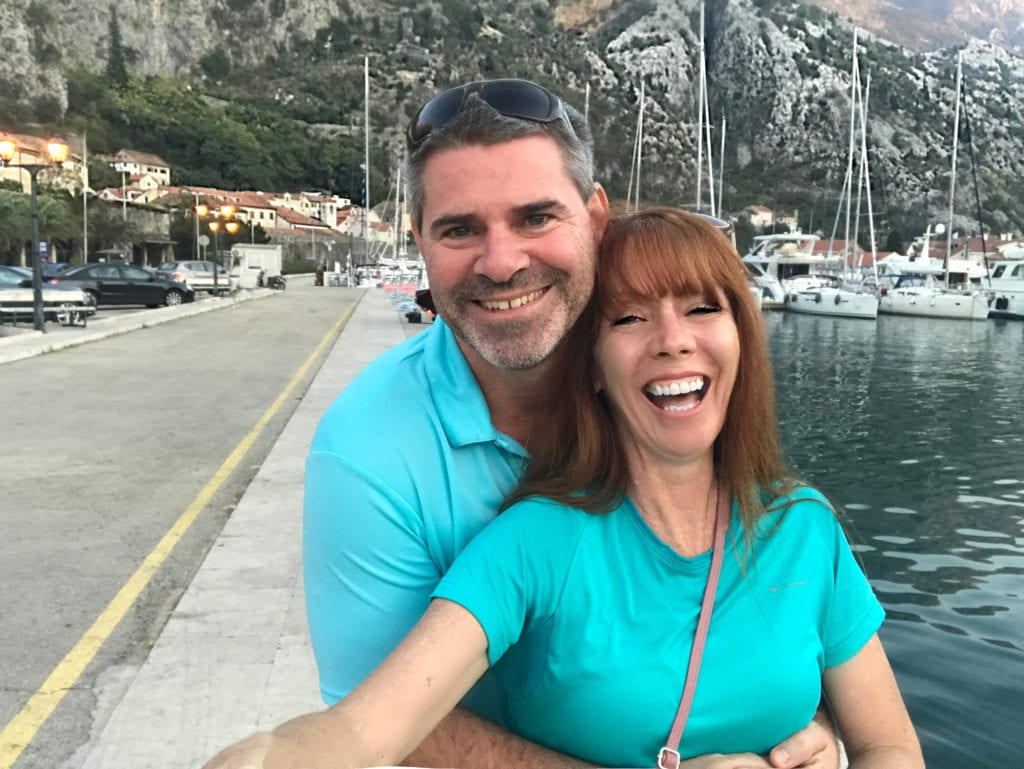 Tegan And Clark On The Shore At Kotor Montenegro