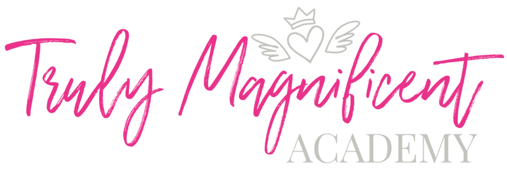Truly Magnifiecent Logo Hot Pink