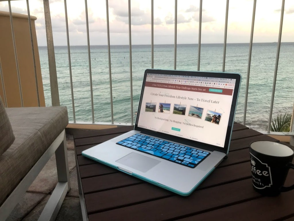 live webinar by tegan marshall thanks page image of laptop lifestyle