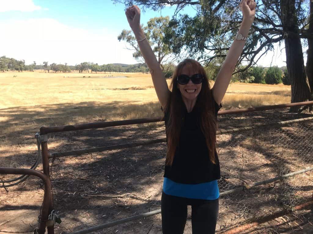 Tegan Mathews facing fears in Ballarat