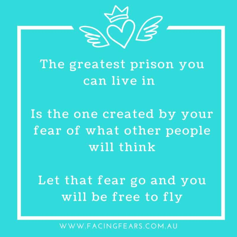 The greatest prison is what others think