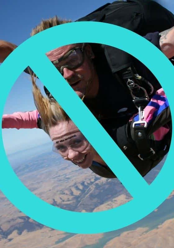 The Facing Fears Club Is Not About Forcing You To Jump Out Of A Plane Skydiving Like Tegan Marshall
